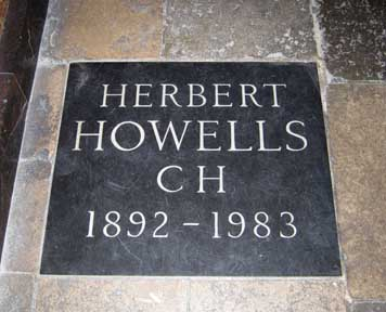 Howells grave Westminster Abbey